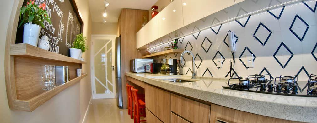 Muebles de cocinas de estilo  por Arching - Arquitetos Associados