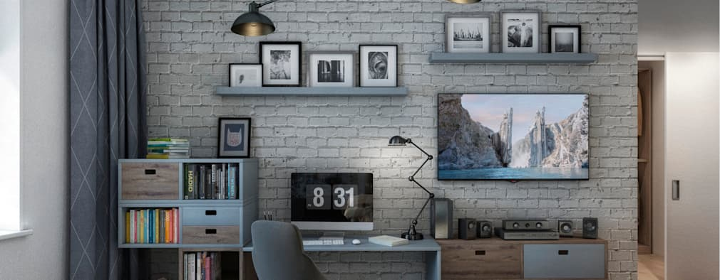 Habitaciones juveniles de estilo  por Дизайн Мира