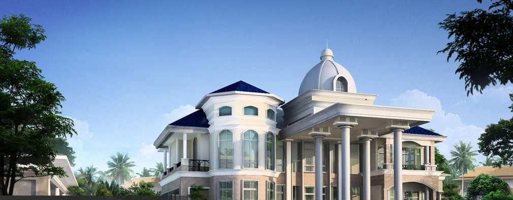 NEO-CLASSIC HOMES:  บ้านสำหรับครอบครัว by HOME