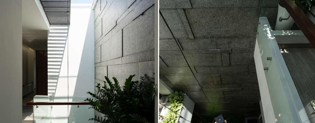 Biệt thự phố Mrs. Thúy Nga. Đường Lê Đại Hành. Nhiếp ảnh: Quang Dam:  Tường by Cty TNHH MTV Kiến trúc, Xây dựng Phạm Phú & Cộng sự - P+P Architects