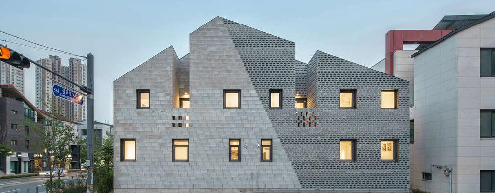 벽돌로 만든 다채로운 표정을 지닌 집
