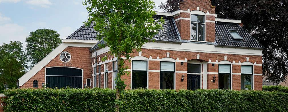 Oudhollands genieten in een gave woonboerderij - Exterieur ingang eigentijds huis ...