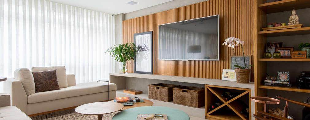 Sala de Estar/Home : Salas de estar modernas por RF DESIGN DE INTERIORES