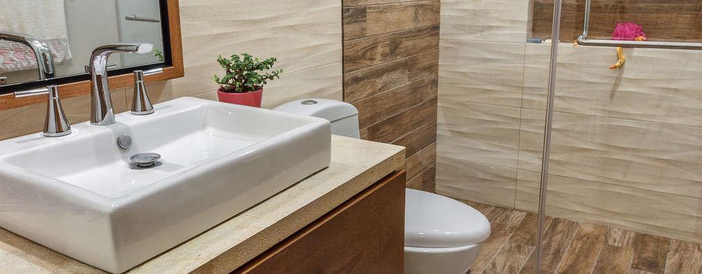 Baños de estilo moderno por SANTIAGO PARDO ARQUITECTO