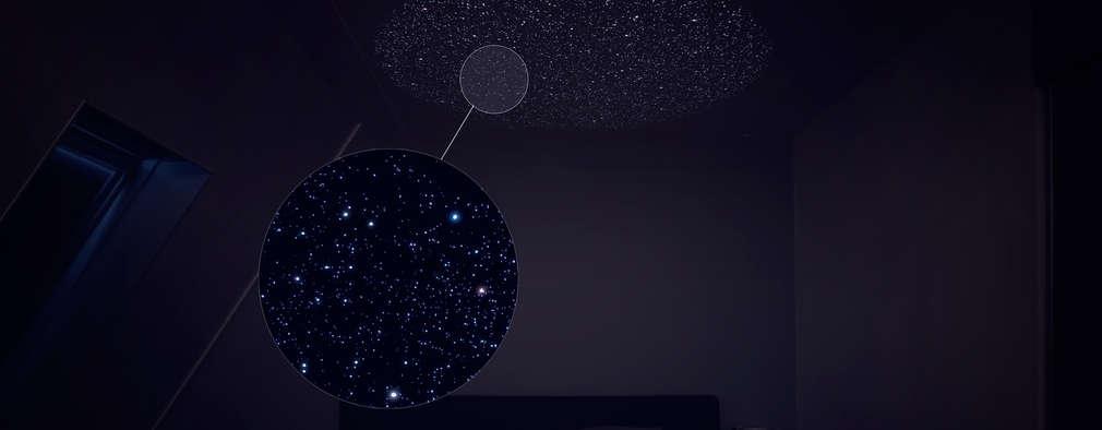 slaapkamer sterrenhemel: minimalistische Slaapkamer door yugenlab
