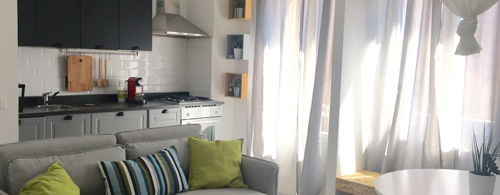 skandinavische Wohnzimmer von Home Lifting