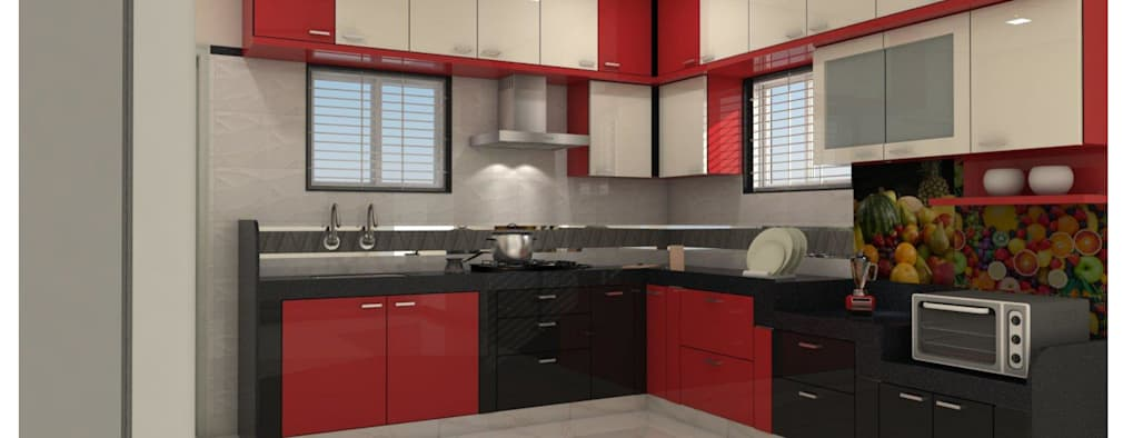 Project in Bachupally @ Praneeth Antilia to Peter:  Built-in kitchens by shree lalitha consultants