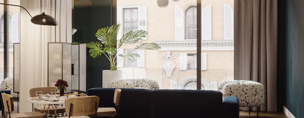 غرفة المعيشة تنفيذ Archventil - Architecture and Design Studio