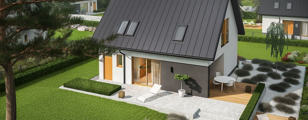 Casas unifamiliares de estilo  por Pracownia Projektowa ARCHIPELAG
