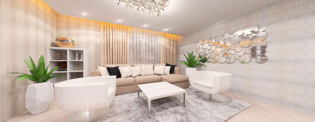 modern Living room by Дизайн интерьера под ключ - GDESIGN