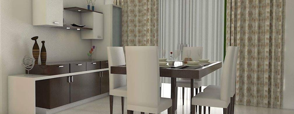 Design ideas for My Home Vihanga: modern Dining room by URBAN HOSPEX INTERIORS