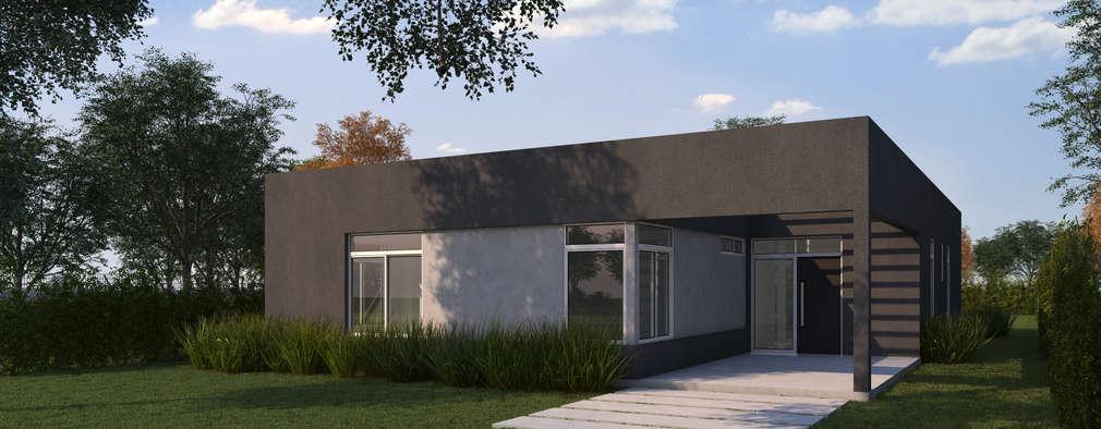 Render fachada: Casas de estilo moderno por KorteSa arquitectura