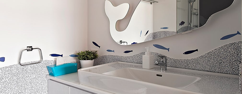 年輪:  浴室 by 禾光室內裝修設計 ─ Her Guang Design