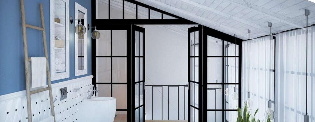 Baños de estilo industrial por Tamriko Interior Design Studio