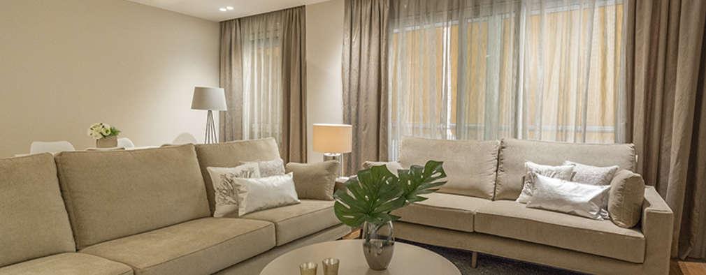 غرفة المعيشة تنفيذ SV Home Staging