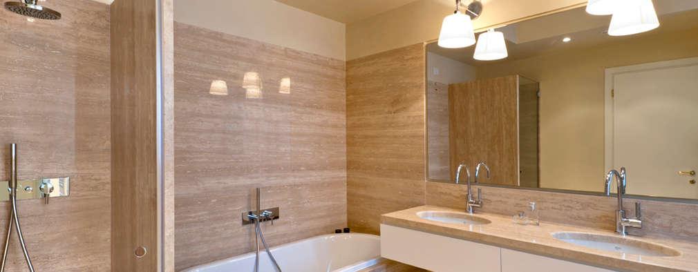 Projekty,  Łazienka zaprojektowane przez Costa Zanibelli associati