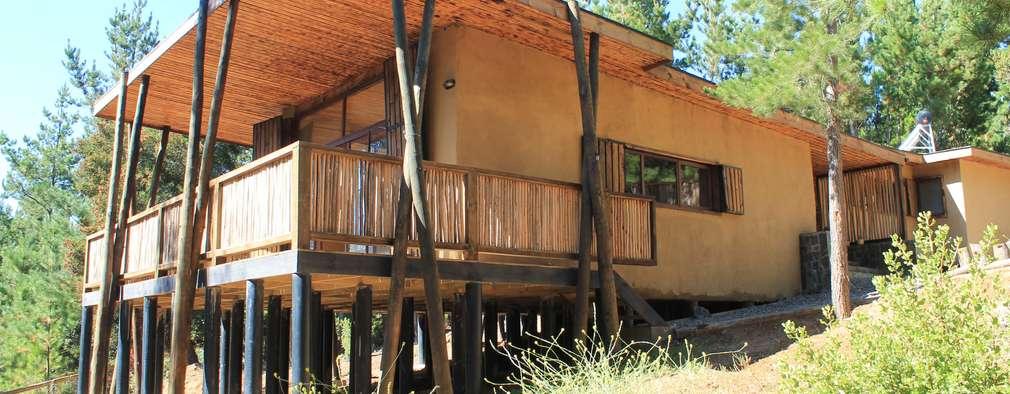 Casa de Fardos: Casas de estilo rústico por Kimche Arquitectos