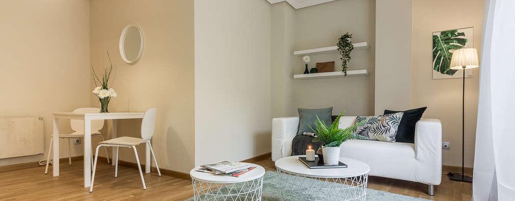 Un piso amueblado con ikea en galicia listo para mudarse for Salones pequenos ikea