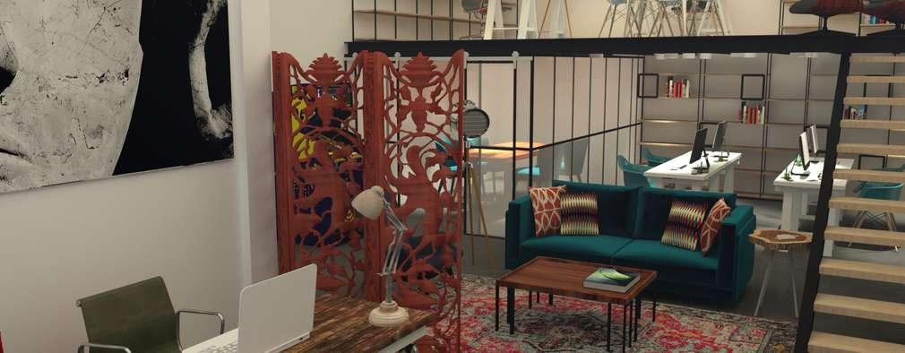 No Place Like Home Atelier in Matosinhos - Exhibition space and work area: Escritórios  por No Place Like Home ®
