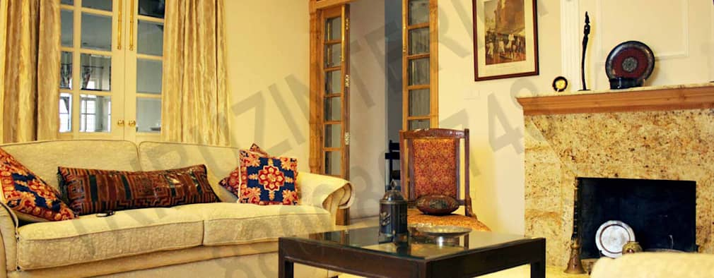 Heritage City 2: modern Living room by Tribuz Interiors Pvt. Ltd.