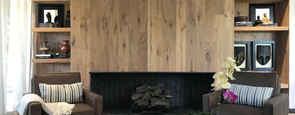 chimenea: Salas de estilo ecléctico por Ecologik