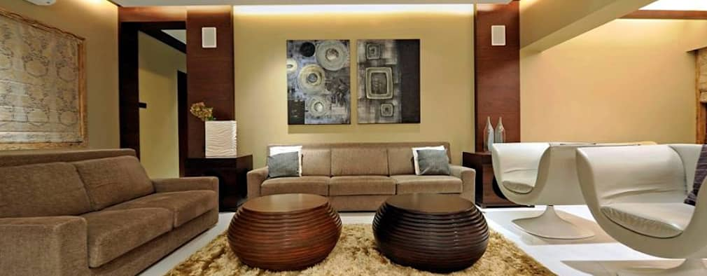 Neanpeanse Road, Mumbai: modern Living room by DesignTechSolutions
