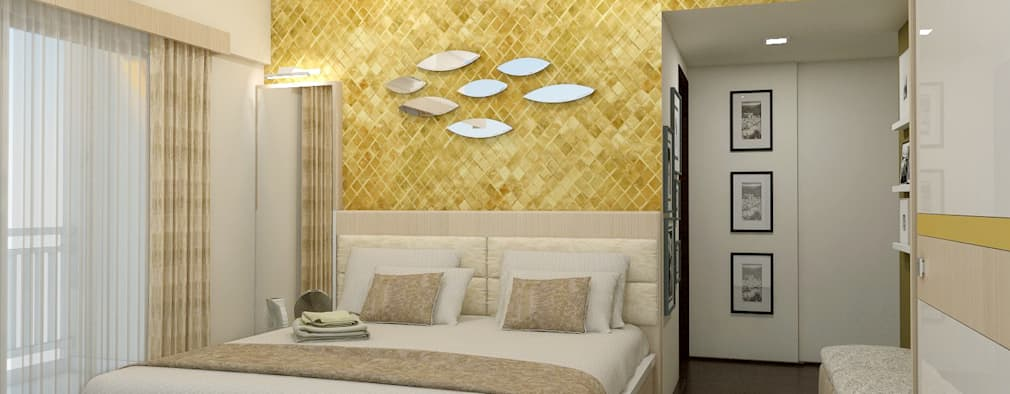 3 BHK flat @ Lodha Meridian: modern Bedroom by shree lalitha consultants