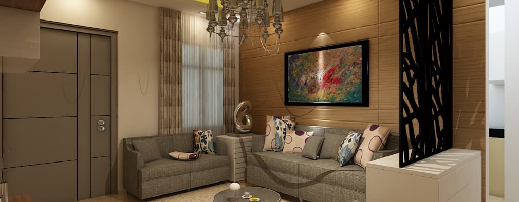 Living Room: modern Living room by Regalias India Interiors & Infrastructure