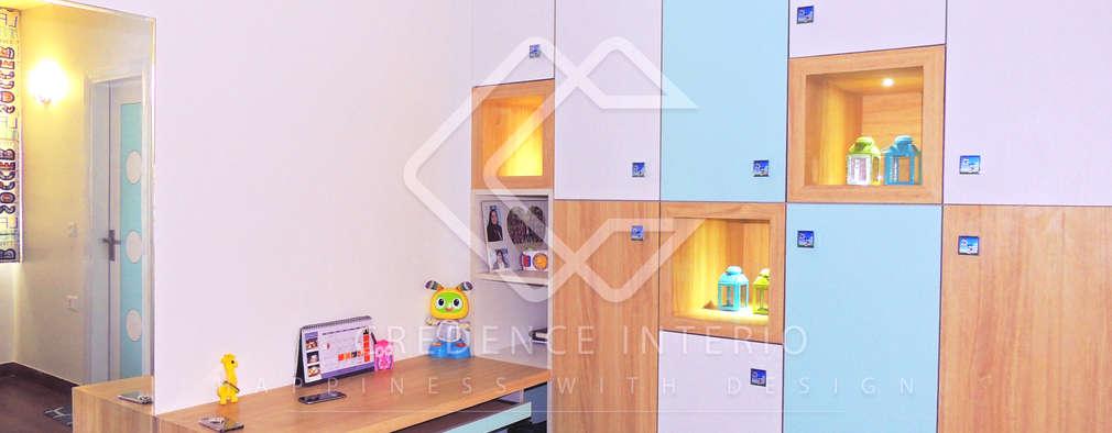 WARDROBE CUM DISPLAY SHELF: modern Bedroom by CREDENCE INTERIO