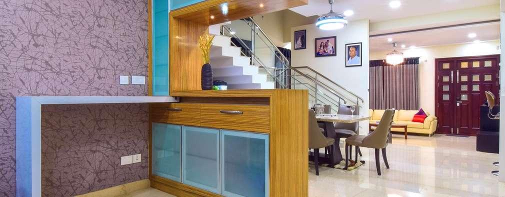 Bar unit: modern Dining room by Team Kraft