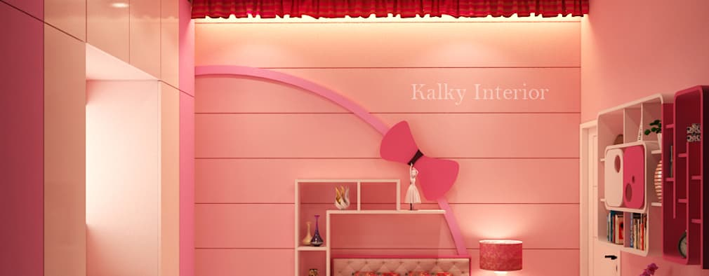 Daughters Room: modern Bedroom by kalky interior