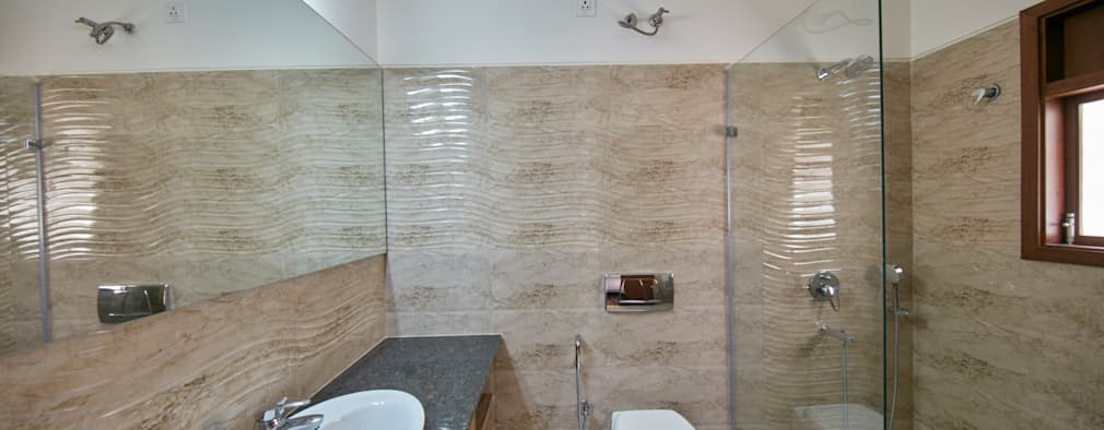 Shower glass partition : modern Bathroom by NVT Quality Build solution