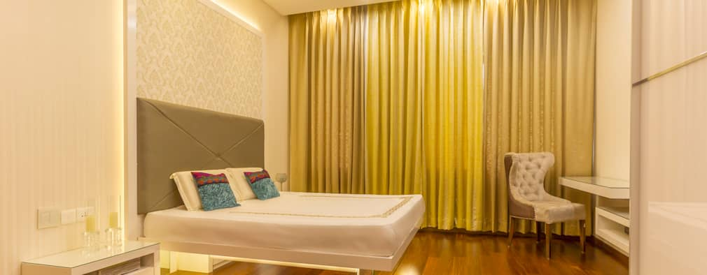 False ceiling in bedroom : modern Bedroom by NVT Quality Build solution