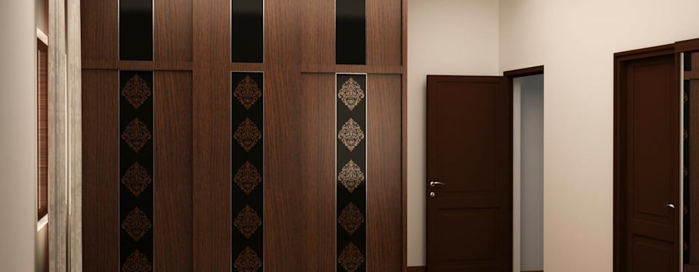 Sliding wardrobe : asian Bedroom by NVT Quality Build solution