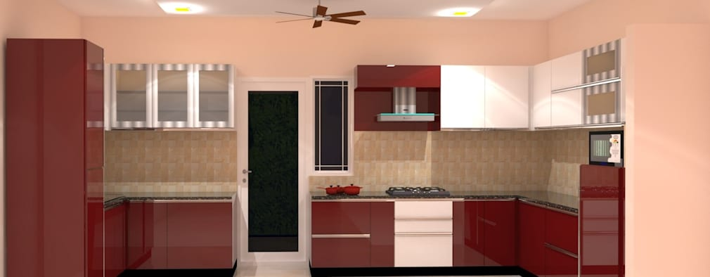 Amanora Park Pune - Pent House: modern Kitchen by DECOR DREAMS