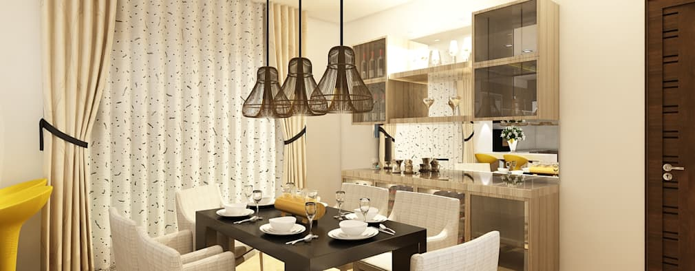 Dining : modern Dining room by Regalias India Interiors & Infrastructure