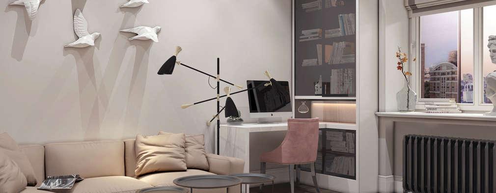 Идеи дизайна небольшой гостиной в пастельных тонах: Гостиная в . Автор – Art-i-Chok