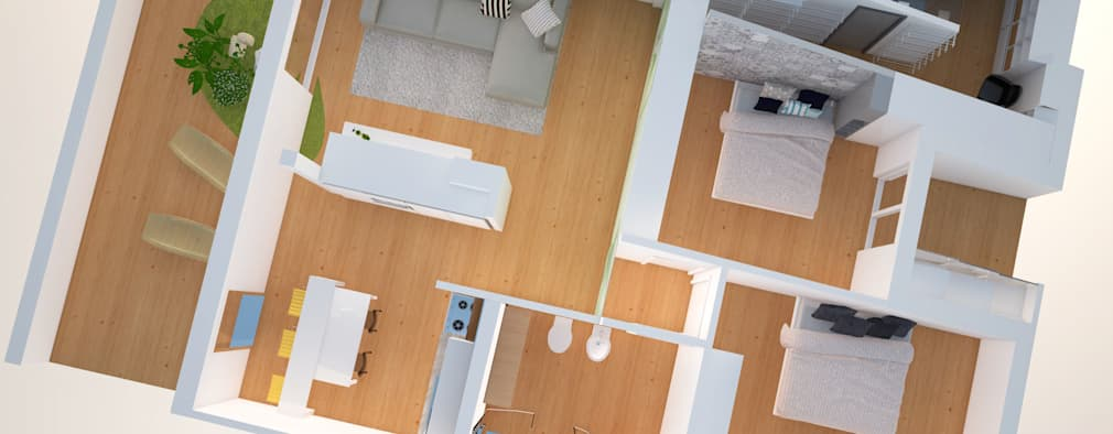 Planimetrie di case e appartamenti 10 esempi per ispirarti for Planimetrie virtuali per le case