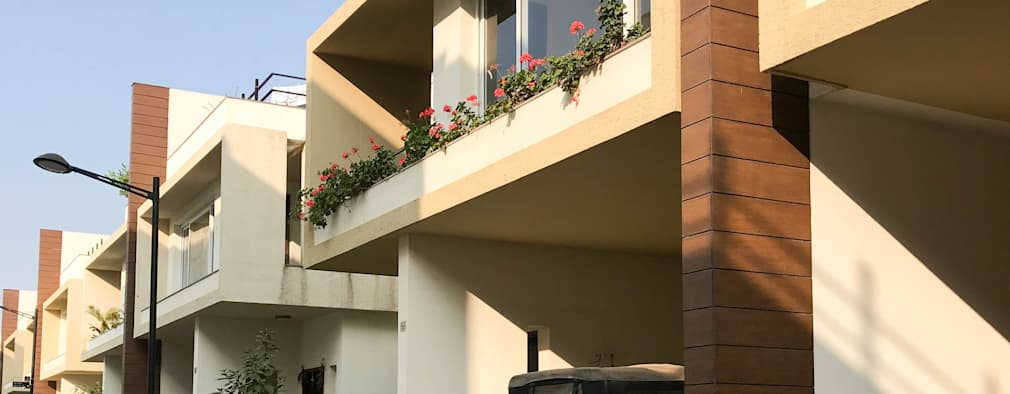 Villa Project at Renaissance Nature Walk: modern Houses by Deccan Structural Systems Pvt. Ltd.