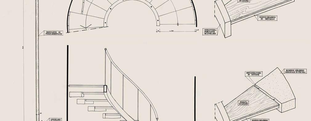 Cầu thang by Morelli & Ruggeri Architetti