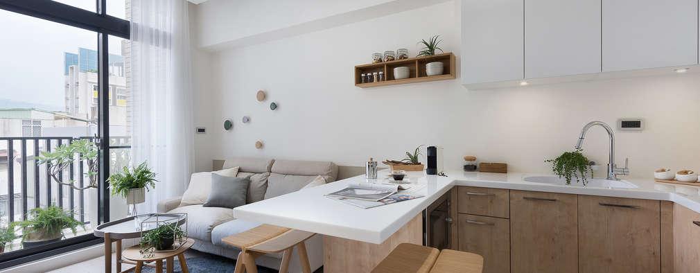 早安,日和!:  餐廳 by 寓子設計