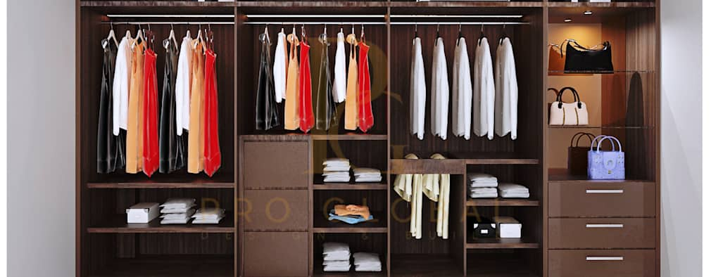 Wardrobe (Inside View):   by Pro Global Interior