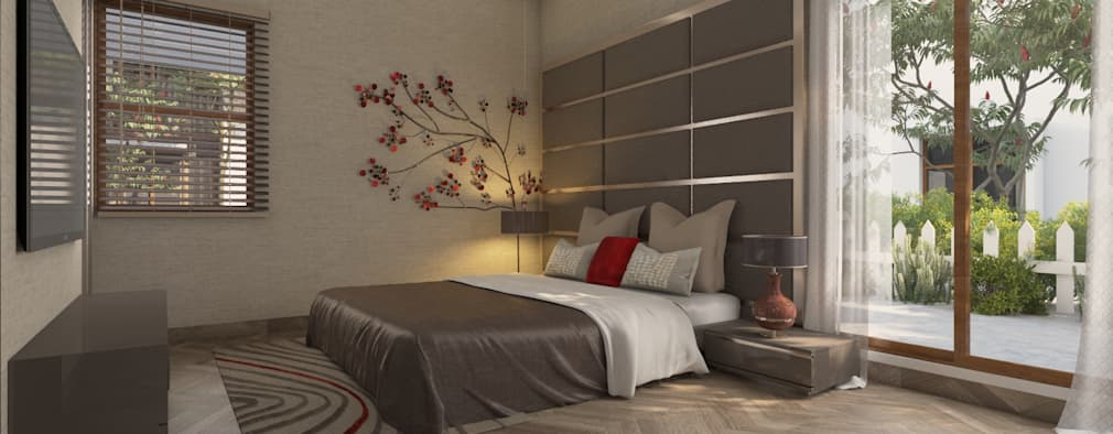 Bedroom Headboard and wall design: modern Bedroom by NVT Quality Build solution