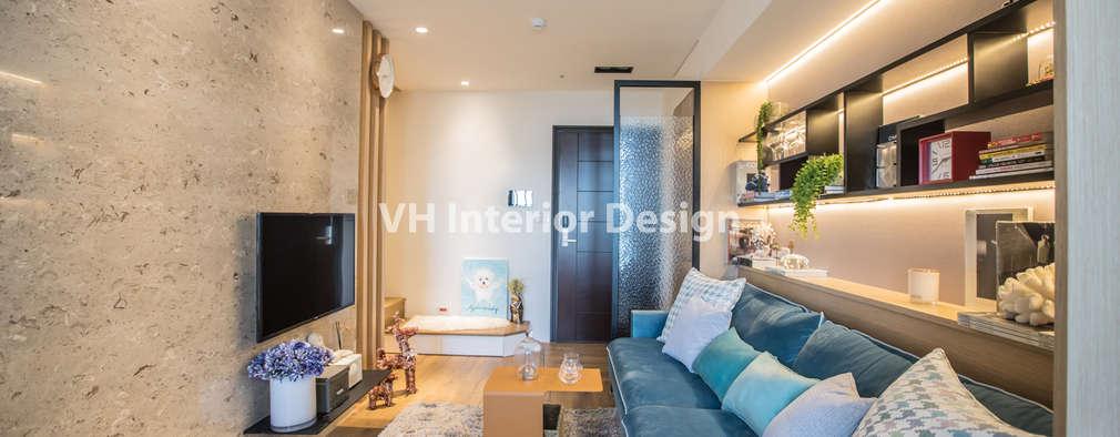 士林黃公館:  客廳 by VH INTERIOR DESIGN