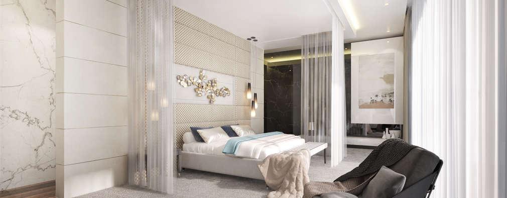 Main Bedroom: modern Bedroom by Dessiner Interior Architectural