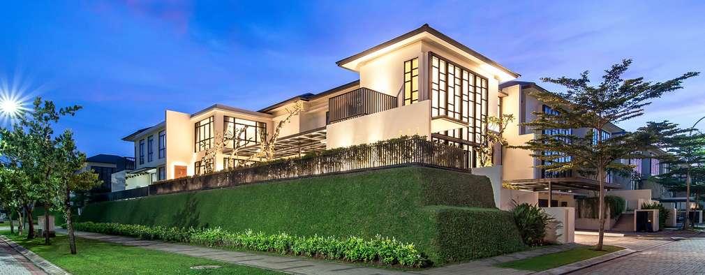 Projekty,  Dom jednorodzinny zaprojektowane przez PT. Dekorasi Hunian Indonesia (D&H Interior)