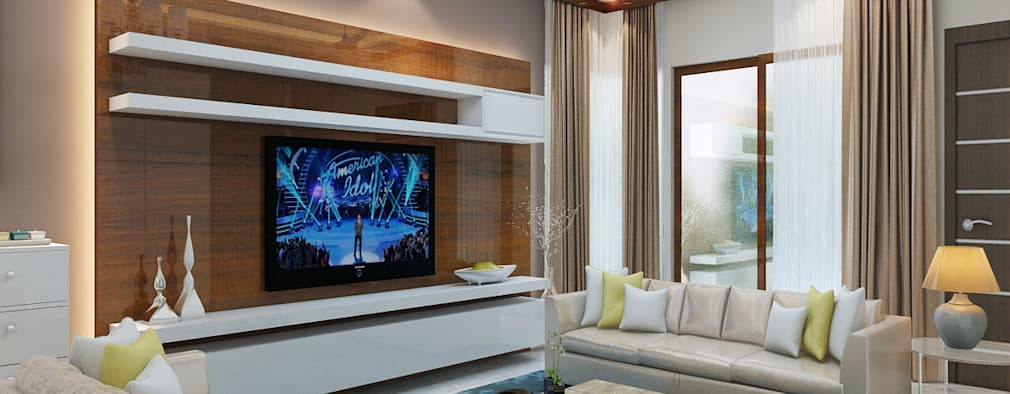 Independent Villa - Pune: modern Living room by DECOR DREAMS