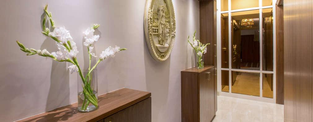 Apartment for Mr & Mrs Merchants, Mazgaon:  Corridor & hallway by Design Ka:Tha