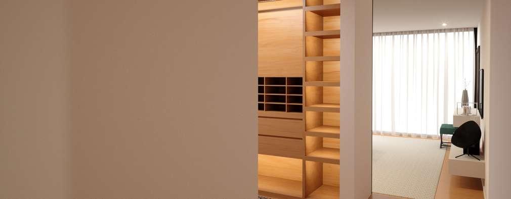 Habitação M&S: Closets modernos por Fabio Pereira & João Fraga, Arquitetos