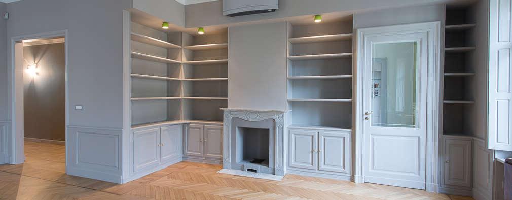Casa U+M: '800 reloaded: Soggiorno in stile in stile Classico di Architetto Francesco Franchini
